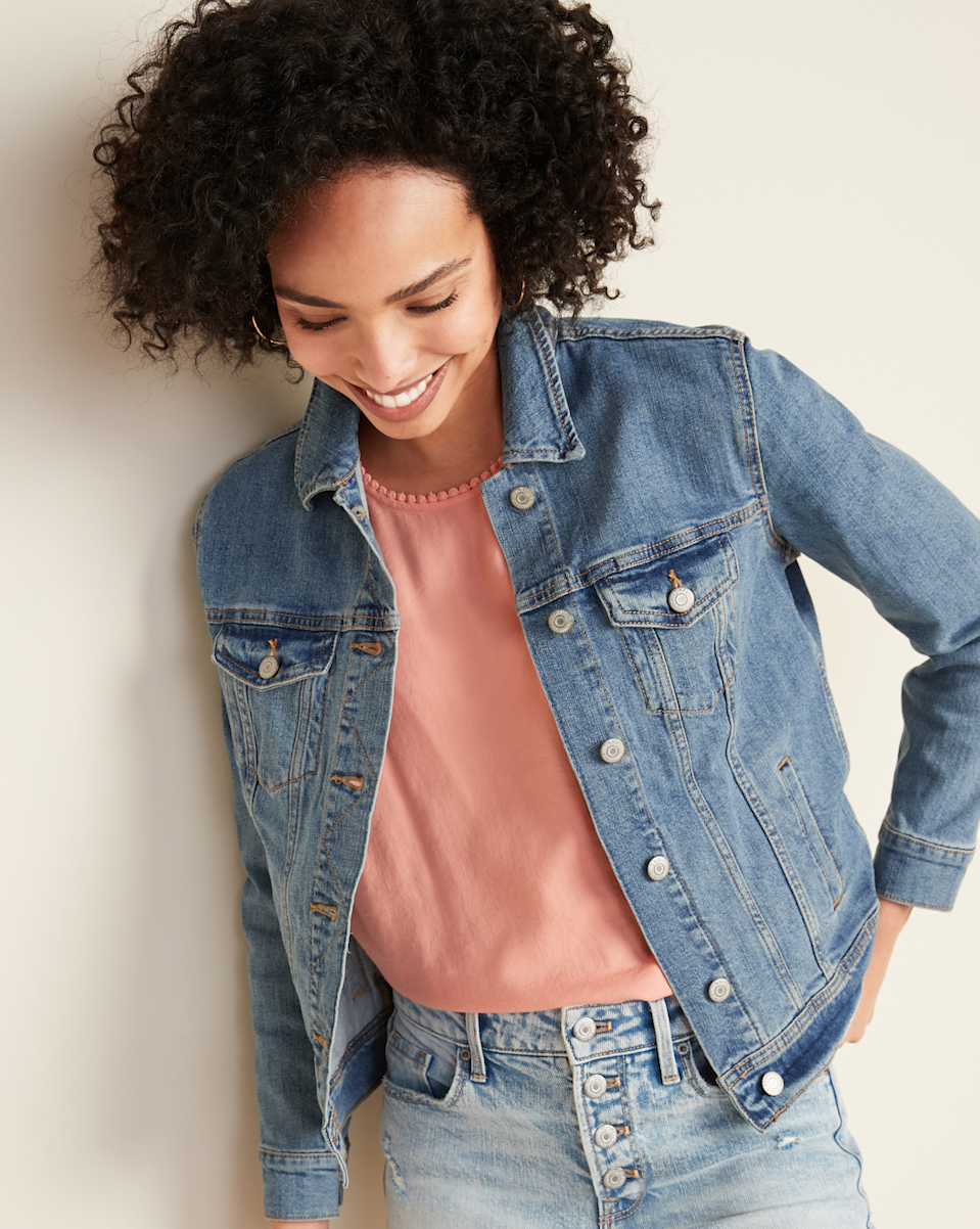 Description: JEAN JACKET FOR WOMEN, Price: $39.99, Availability: Old Navy stores and oldnavy.gap.com