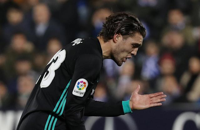 Soccer Football - Spanish King's Cup - Leganes vs Real Madrid - Quarter-Final - First Leg - Butarque Municipal Stadium, Leganes, Spain - January 18, 2018 Real Madrid's Mateo Kovacic reacts after a missed chance REUTERS/Susana Vera