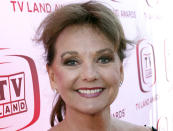 """FILE - In this June 8, 2008 file photo, actress Dawn Wells arrives at the TV Land Awards in Santa Monica, Calif. Wells, who played the wholesome Mary Ann among a misfit band of shipwrecked castaways on the 1960s sitcom """"Gilligan's Island, died Wednesday, Dec. 30, 2020, of causes related to COVID-19, her publicist said.(AP Photo/Matt Sayles)"""