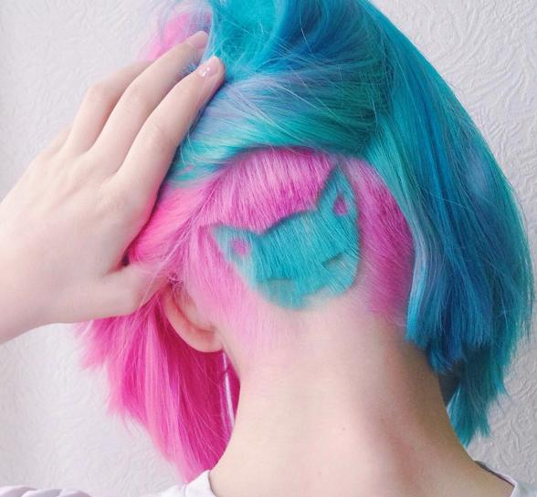 046422f57 This Crazy Cat Lady Hair Tattoo Has Taken Instagram By Storm