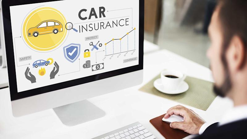 Man researching car insurance coverage on computer