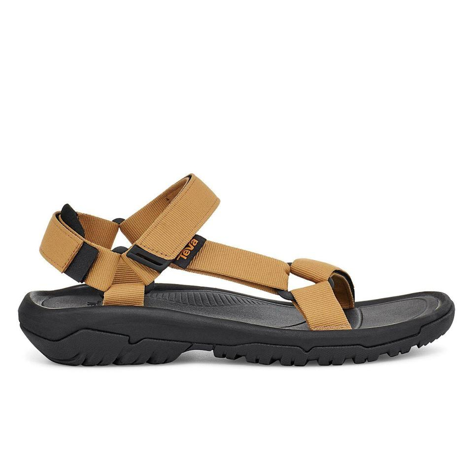 """<p><strong>Teva</strong></p><p>huckberry.com</p><p><a href=""""https://go.redirectingat.com?id=74968X1596630&url=https%3A%2F%2Fhuckberry.com%2Fstore%2Fteva%2Fcategory%2Fp%2F69779-hurricane-xlt2&sref=https%3A%2F%2Fwww.menshealth.com%2Fstyle%2Fg37092193%2Fhuckberry-summer-sale-2021%2F"""" rel=""""nofollow noopener"""" target=""""_blank"""" data-ylk=""""slk:BUY IT HERE"""" class=""""link rapid-noclick-resp"""">BUY IT HERE</a></p><p><del>$70<br></del><strong>$53 (24% OFF)</strong></p><p>Among the <a href=""""https://www.menshealth.com/technology-gear/g29503936/hiking-essentials/"""" rel=""""nofollow noopener"""" target=""""_blank"""" data-ylk=""""slk:hiking checklist"""" class=""""link rapid-noclick-resp"""">hiking checklist</a> and camping essentials, you likely need a pair of sandals ready for any terrain. These will hug your foot comfortably as they take on the great outdoors.</p>"""
