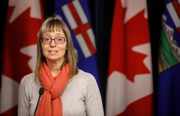 Alberta chief medical officer of health Dr. Deena Hinshaw updated the province's response to COVID-19 Wednesday.  (Jason Franson/The Canadian Press - image credit)