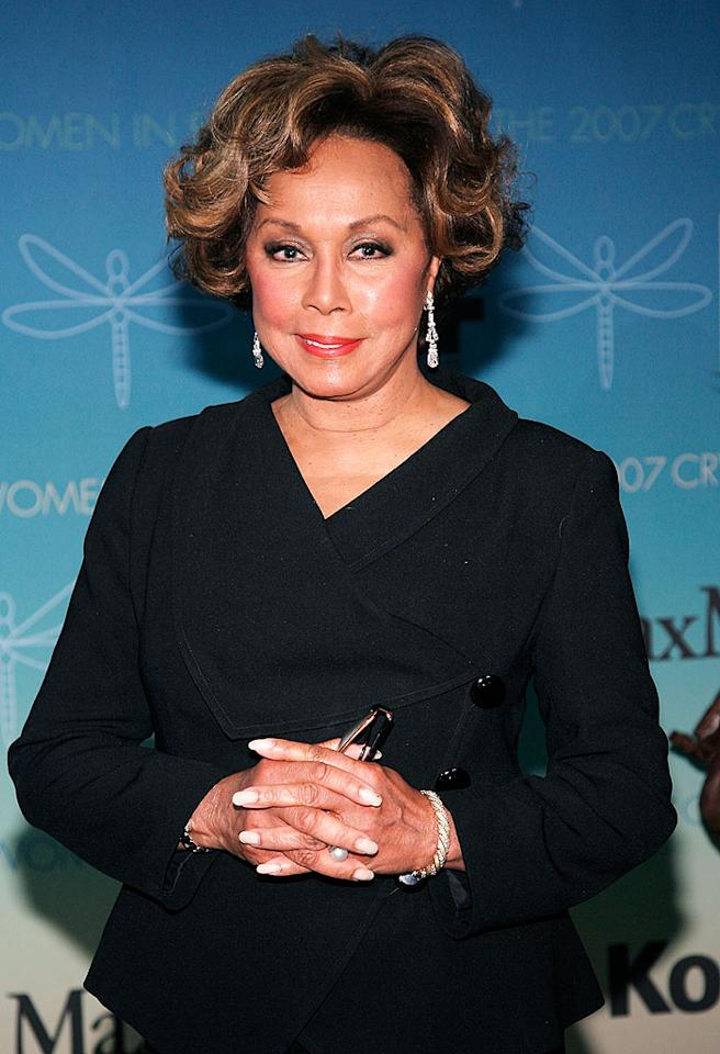 """Legendary actress and singer Diahann Carroll says a mammogram saved her life. Diagnosed with the disease at age 63, she works to educate postmenopausal women about screenings and the life-saving benefits of early detection. Vince Bucci/<a href=""""http://www.gettyimages.com/"""" target=""""new"""">GettyImages.com</a> - June 14, 2007"""