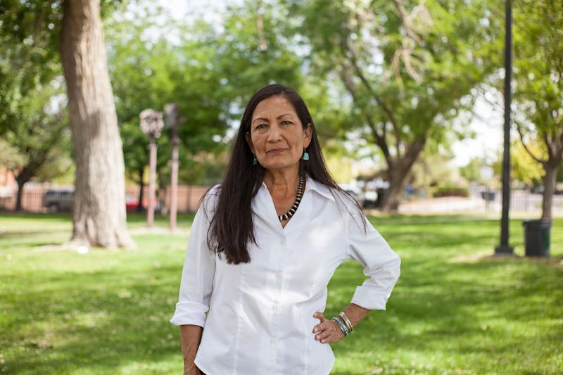 Deb Haaland is one of two Native American women who will now serve in Congress. It took only 229 years. (Photo: ASSOCIATED PRESS)