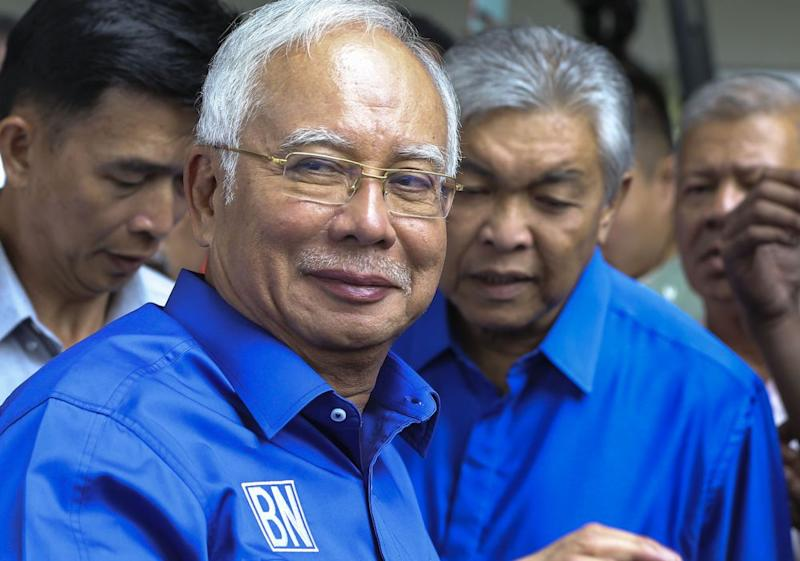 Najib says Ahmad Zahid has full authority over the direction of Umno. ― Picture by Azneal Ishak