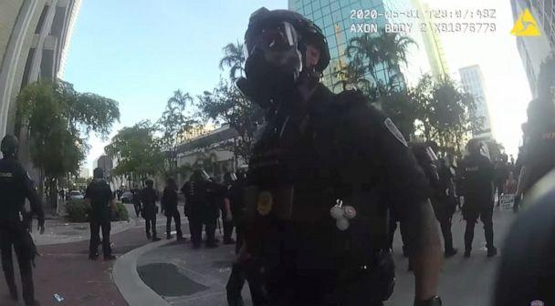 PHOTO: Police body cam footage from the May 31 protest in Fort Lauderdale, Fla. was released. (Ft Lauderdale PD)