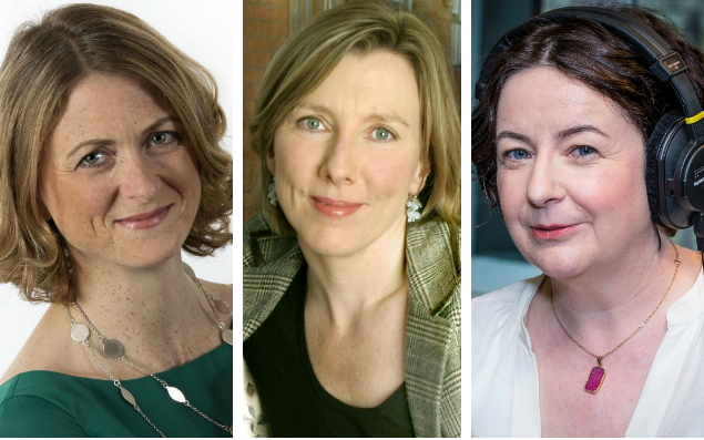 Rachel Burden, Sarah Montague and Jane Garvey - BBC
