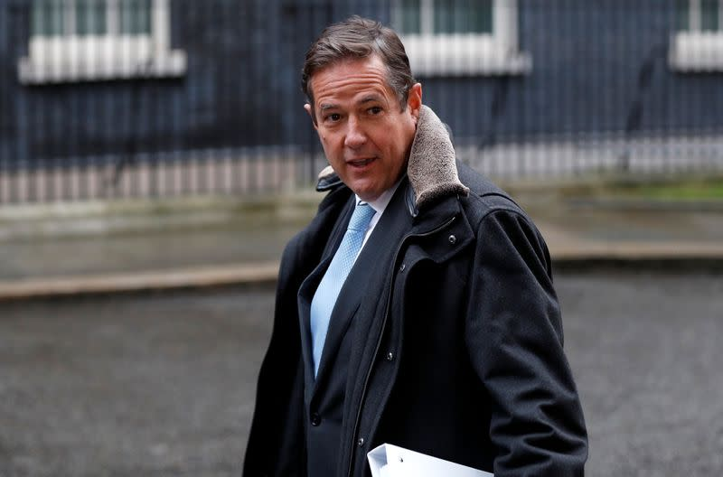 Barclays' CEO Jes Staley arrives at 10 Downing Street in London