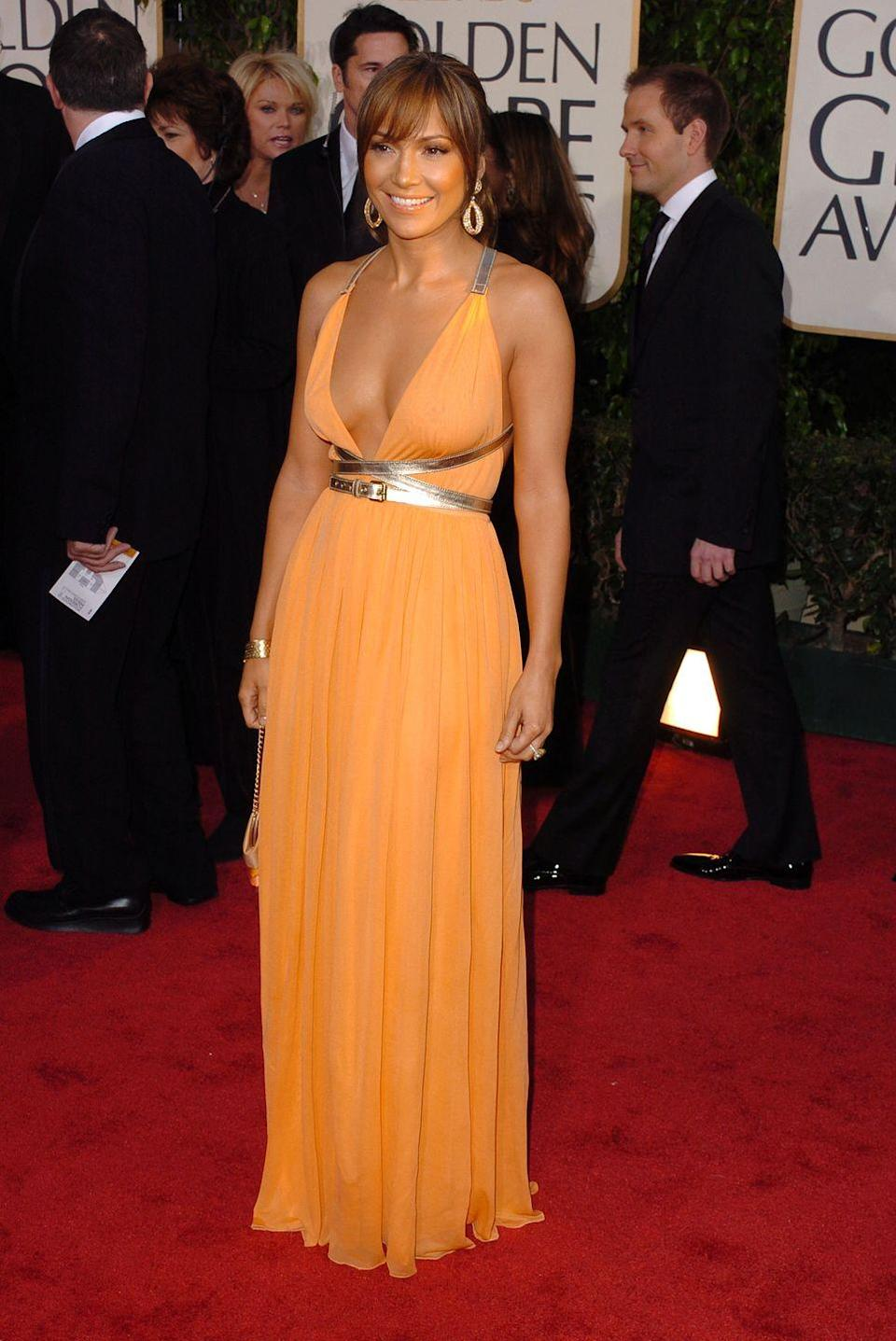 <p><strong>When: </strong>January 2004</p><p><strong>Where: </strong>The Golden Globes</p><p><strong>Wearing: </strong>Michael Kors</p>