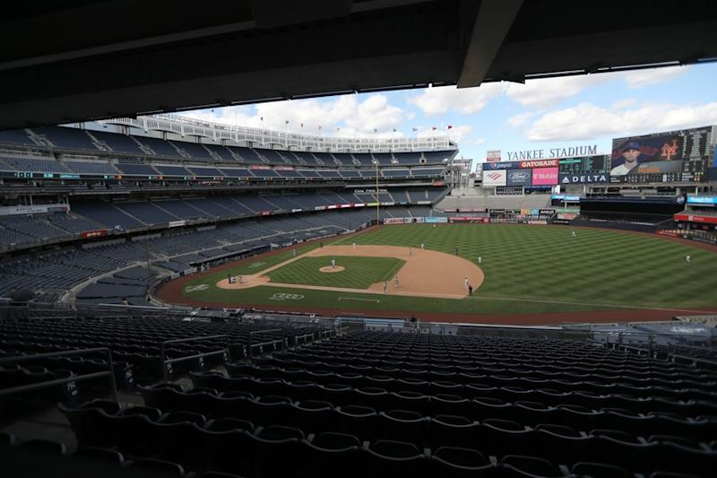 A general view of Yankee Stadium as the Mets face the Yankees