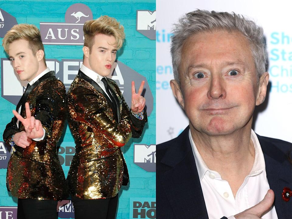 Jedward and Louis Walsh (Andreas Rentz/Tim P Whitby/Getty Images)