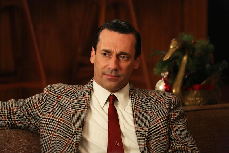"""This publicity photo provided by AMC shows Jon Hamm as Don Draper in a scene of """"Mad Men,"""" Season 6, Episode 2. """"Mad Men"""" returns for its sixth season Sunday, April 7, 2013, on AMC with 13 new episodes. Series Creator Matthew Weiner says he plans one more season for the 1960s drama. (AP Photo/AMC, Michael Yarish)"""