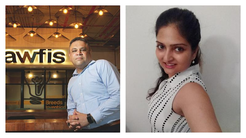 Amit Ramani CEO & Founder, Awfis and Vice President, Indian Workspace Association and Shreya Prakash, co-founder, FlexiBees
