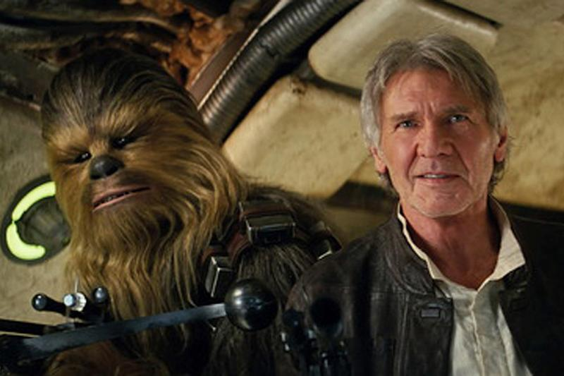 Guarded secret: Harrison Ford with Chewbacca in the seventh episode: Disney/Lucasfilm Ltd