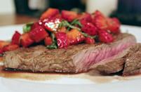 """<p>Summer is the best time to <a href=""""https://www.thedailymeal.com/cook/how-grill-perfect-steak-gallery?referrer=yahoo&category=beauty_food&include_utm=1&utm_medium=referral&utm_source=yahoo&utm_campaign=feed"""" rel=""""nofollow noopener"""" target=""""_blank"""" data-ylk=""""slk:grill the perfect steak"""" class=""""link rapid-noclick-resp"""">grill the perfect steak</a>, but if you want to bring more seasonality to your beef, pair it with this tangy strawberry salsa. Serve with your favorite <a href=""""https://www.thedailymeal.com/best-recipes/no-cook-barbecue-sides-gallery?referrer=yahoo&category=beauty_food&include_utm=1&utm_medium=referral&utm_source=yahoo&utm_campaign=feed"""" rel=""""nofollow noopener"""" target=""""_blank"""" data-ylk=""""slk:barbecue side dishes."""" class=""""link rapid-noclick-resp"""">barbecue side dishes.</a></p> <p><a href=""""https://www.thedailymeal.com/recipes/steak-strawberry-balsamic-salsa-recipe?referrer=yahoo&category=beauty_food&include_utm=1&utm_medium=referral&utm_source=yahoo&utm_campaign=feed"""" rel=""""nofollow noopener"""" target=""""_blank"""" data-ylk=""""slk:For the Steak With Strawberry-Balsamic Salsa recipe, click here."""" class=""""link rapid-noclick-resp"""">For the Steak With Strawberry-Balsamic Salsa recipe, click here.</a></p>"""