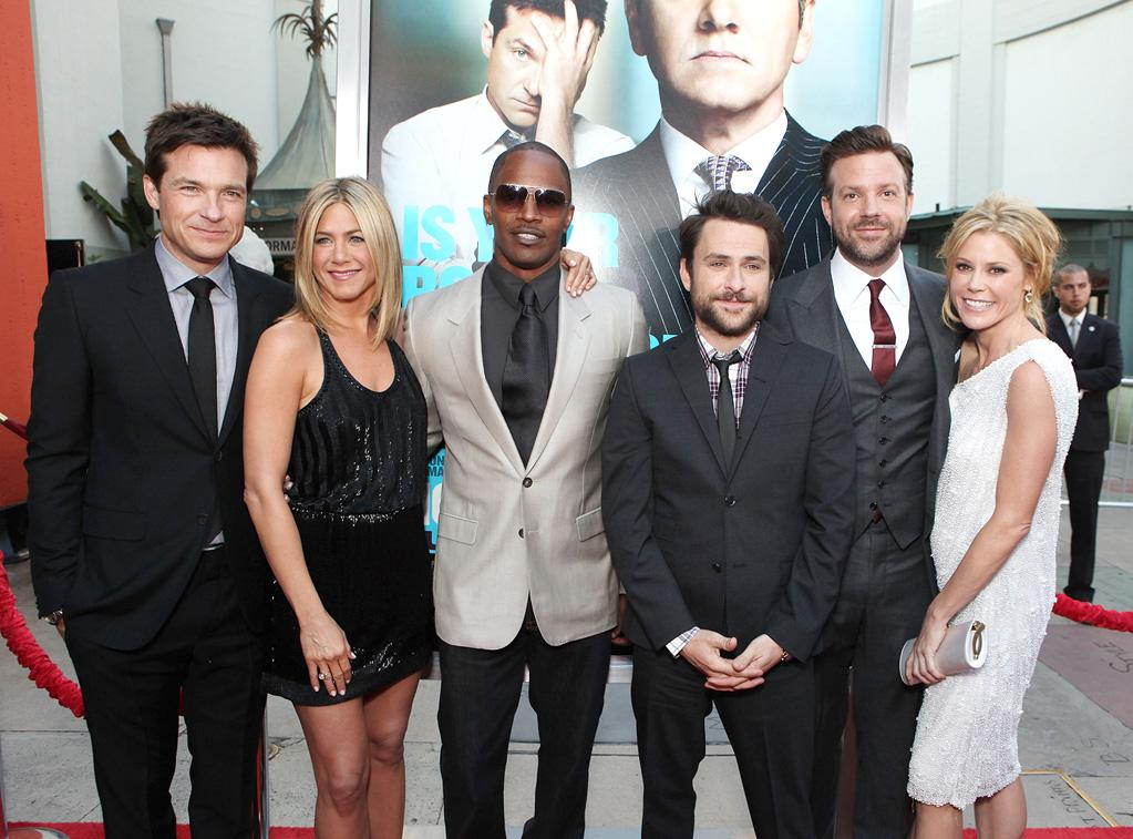 "<a href=""http://movies.yahoo.com/movie/contributor/1800019148"">Jason Bateman</a>, <a href=""http://movies.yahoo.com/movie/contributor/1800021397"">Jennifer Aniston</a>, <a href=""http://movies.yahoo.com/movie/contributor/1800020004"">Jamie Foxx</a>, <a href=""http://movies.yahoo.com/movie/contributor/1807657139"">Charlie Day</a>, <a href=""http://movies.yahoo.com/movie/contributor/1809724956"">Jason Sudeikis</a> and <a href=""http://movies.yahoo.com/movie/contributor/1800253184"">Julie Bowen</a> at the Los Angeles premiere of <a href=""http://movies.yahoo.com/movie/1810161382/info"">Horrible Bosses</a> on June 30, 2011."