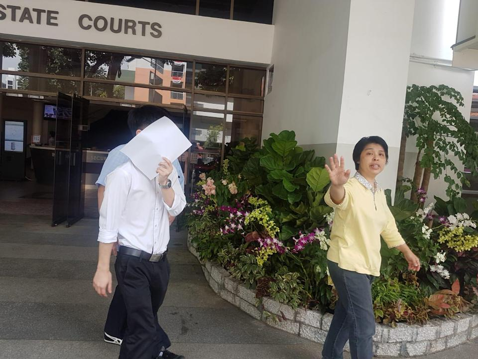 Ekawit Tangtrakarn, 24, leaving the State Courts after pleading guilty. (PHOTO: Wan Ting Koh/Yahoo News Singapore)