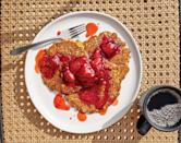 """<a href=""""https://www.bonappetit.com/recipe/lacy-cornmeal-pancakes-with-strawberry-compote?mbid=synd_yahoo_rss"""" rel=""""nofollow noopener"""" target=""""_blank"""" data-ylk=""""slk:See recipe."""" class=""""link rapid-noclick-resp"""">See recipe.</a>"""