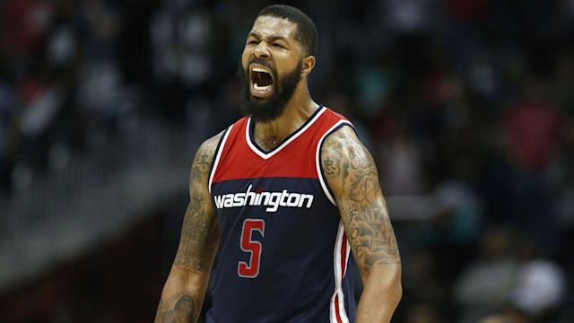 Markieff Morris chimed in Wednesday with his own nuanced take on the simmering Wizards-J.J. Barea beef. (Getty)