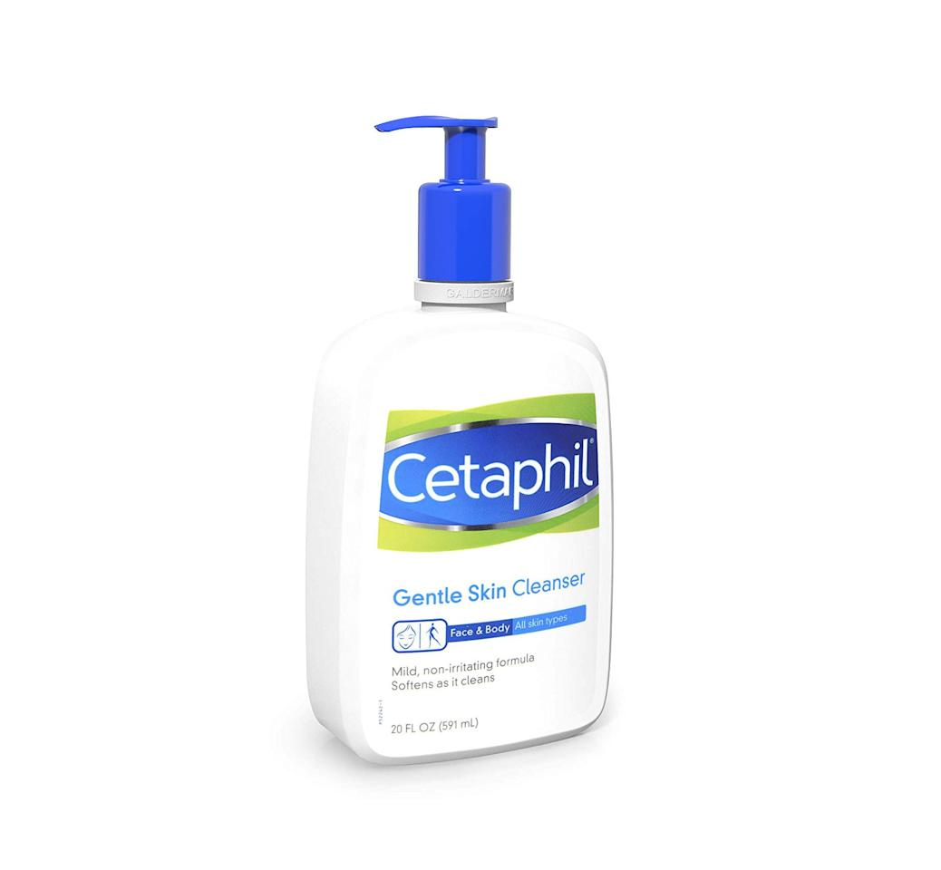 """<p><strong>Cetaphil</strong></p><p>amazon.com</p><p><strong>$11.90</strong></p><p><a href=""""https://www.amazon.com/dp/B07GC74LL5?tag=syn-yahoo-20&ascsubtag=%5Bartid%7C2141.g.25426006%5Bsrc%7Cyahoo-us"""" target=""""_blank"""">SHOP NOW</a></p><p>This face wash wins for how gentle it is while still being effective, according to Dr. Rao. The <strong>low suds formula</strong><strong> washes away impurities without stripping moisture</strong>. It's also unscented and noncomedogenic (so it won't clog your pores)—making this an especially great <a href=""""https://www.prevention.com/beauty/skin-care/g22689759/best-face-wash-for-acne/"""" target=""""_blank"""">face wash for acne-prone skin</a>, too.</p>"""