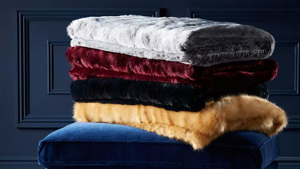 Why this luxury faux fur throw is worth every penny, according to the reviews. (John Lewis & Partners)