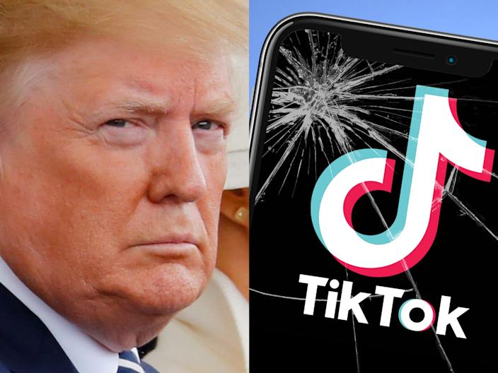 Trump threatened to ban TikTok from operating in the US.