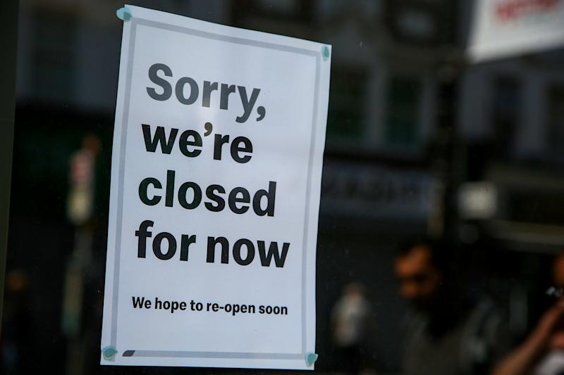Sorry, we're closed for now sign seen on a window of the McDonald's restaurant in north London. (Photo by Dinendra Haria / SOPA Images/Sipa USA)