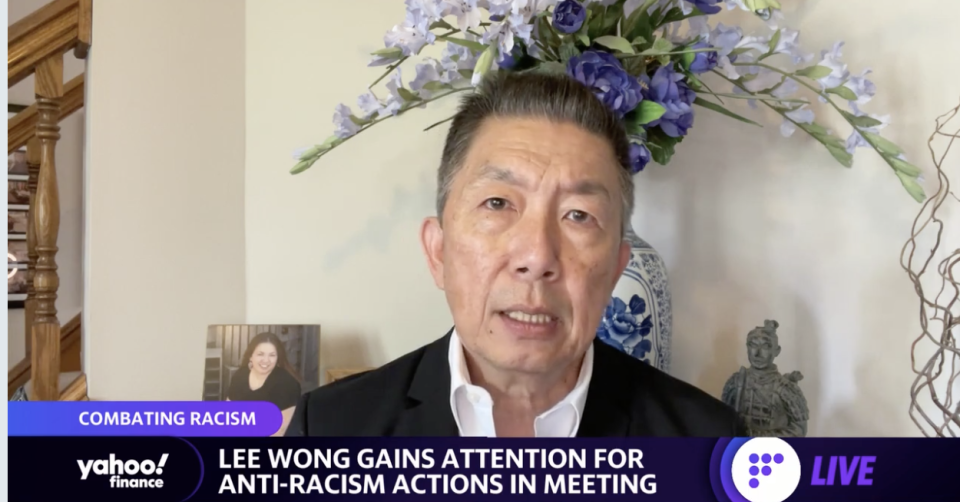 """It was time for me to say something needed that needed to be said,"" Lee Wong told Yahoo Finance"