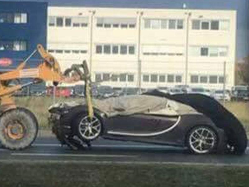 Bugatti Chiron Accident Crash Wolfsburg The Drive