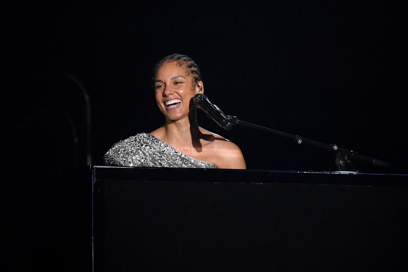 Alicia Keys performs onstage during the 62nd Annual GRAMMY Awards at Staples Center on January 26, 2020 in Los Angeles, California. | Getty Images—2020 Getty Images