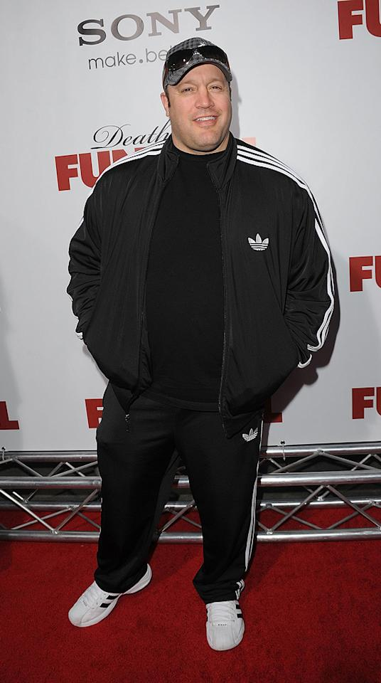 """<a href=""""http://movies.yahoo.com/movie/contributor/1804503486"""">Kevin James</a> at the Los Angeles premiere of <a href=""""http://movies.yahoo.com/movie/1810077967/info"""">Death at a Funeral</a> - 04/12/2010"""