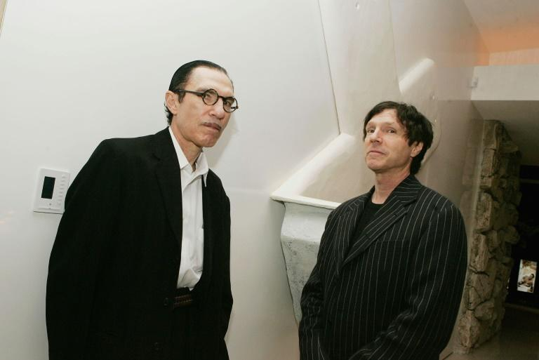 Musicians Ron (L) and Russell Mael of Sparks in Beverly Hills, California, in 2006