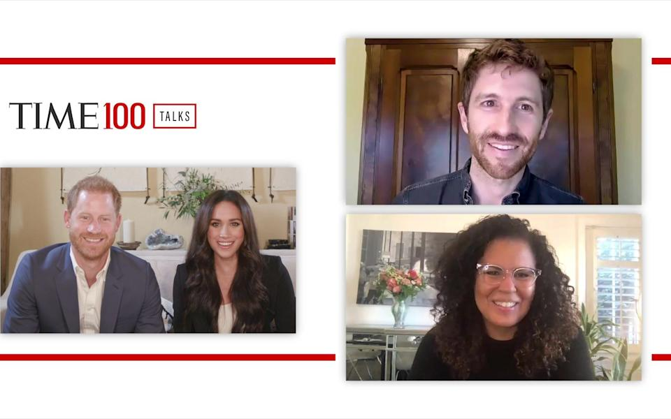 The Sussexes talk to Tristan Harris and Dr Safiya Umoja Noble - Time