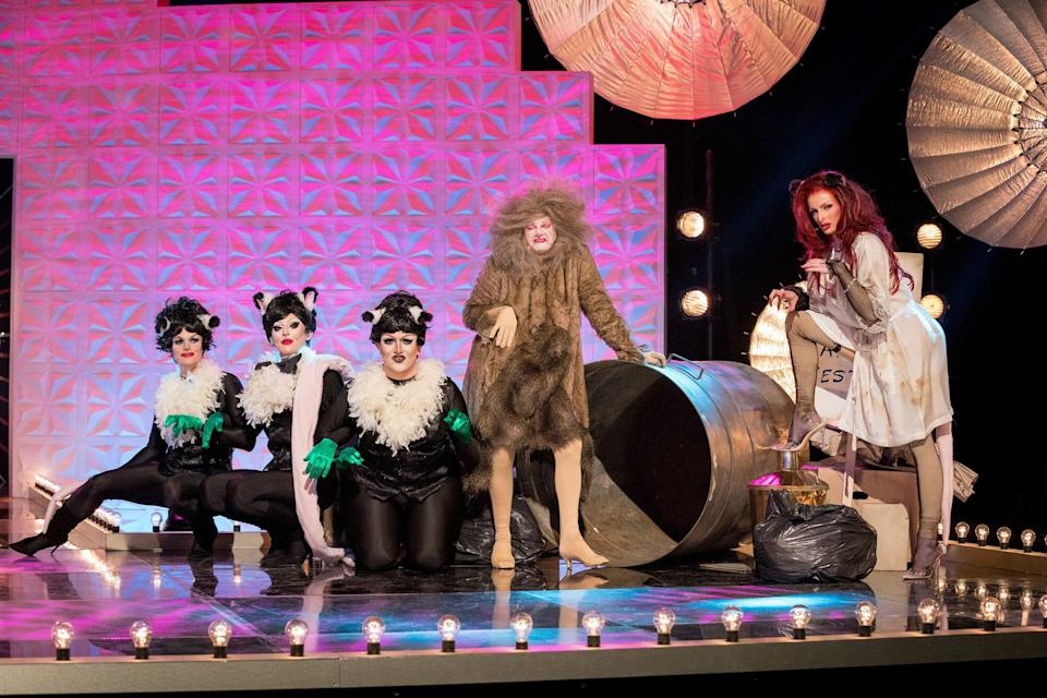 Cherry on stage for Rats: The Rusical. (Photo: BBC/World of Wonder/Guy Levy)
