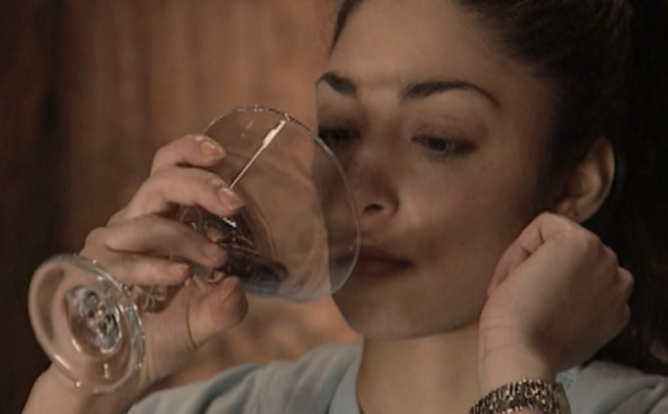 A 'Fear Factor' contestant prepares to drink a 'Wormtini' on a Season 1 episode (Photo: NBC/Hulu)