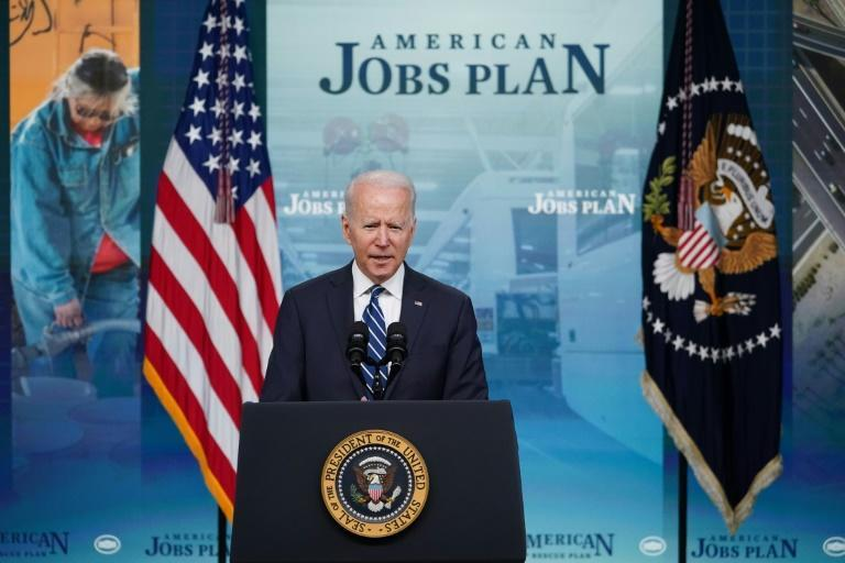"""US President Joe Biden hailed the June 2021 job gains as """"historic"""" and credited his administration's policies with helping the economy recover from the pandemic downturn"""