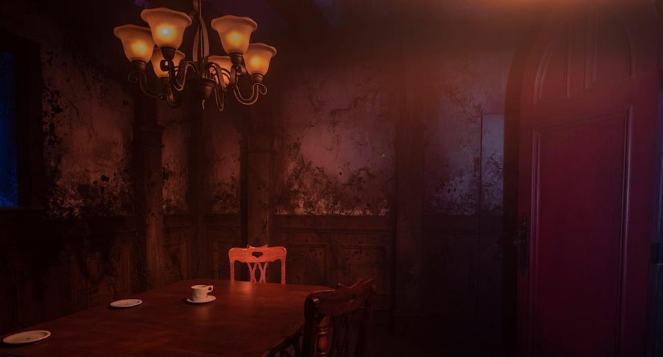 """Among Universal's 10 haunted mazes will be Netflix's """"The Haunting of Hill House,"""" based on the streaming network's horror series. Visitors will be able to walk through the namesake house and encounter scenes such as the Hall of Statues and the Red Room."""