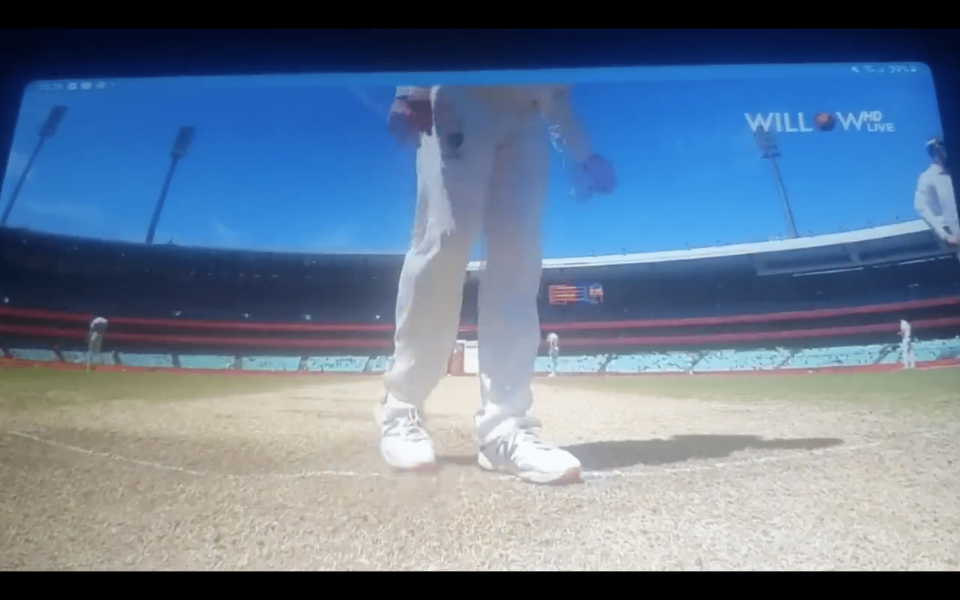 Steve Smith was caught on the stump camera scuffing out Rishabh Pant's batting stance.