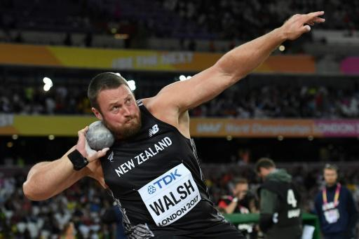 New Zealand's Walsh takes shot put gold