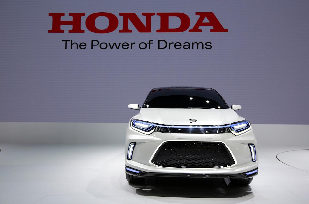 A Honda Li Nian EV concept car is displayed during a media preview of the Auto China 2018 motor show in Beijing, China April 25, 2018. REUTERS/Jason Lee