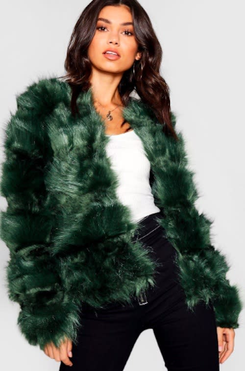 17 colorful faux fur coats that will