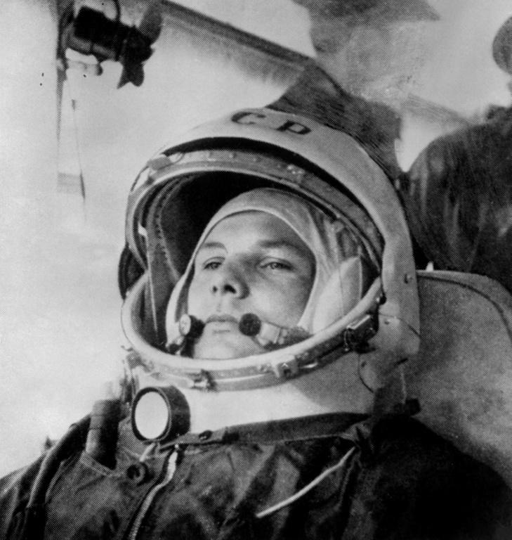 Gagarin was aged just 27 when he blasted off in a Vostok spacecraft