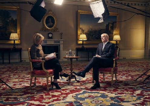 "<span class=""caption"">Prince Andrew during the recent BBC interview.</span> <span class=""attribution""><span class=""source"">BBC/Mark Harrison</span></span>"