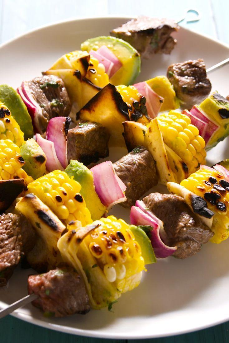 """<p>Meet our new favorite way to eat steak tacos.</p><p>Get the recipe from <a href=""""https://www.delish.com/cooking/recipe-ideas/recipes/a48517/steak-taco-on-a-stick-recipe/"""" rel=""""nofollow noopener"""" target=""""_blank"""" data-ylk=""""slk:Delish"""" class=""""link rapid-noclick-resp"""">Delish</a>.</p>"""