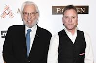 """<p>""""I'm going to embarrass him right now... I have always felt that not only is my father one of the most prolific actors in the English language, he is also one of the most important,"""" <a href=""""https://www.today.com/video/kiefer-donald-sutherland-on-what-it-was-like-working-together-for-first-time-628139587577"""" rel=""""nofollow noopener"""" target=""""_blank"""" data-ylk=""""slk:Kiefer told Today in 2016"""" class=""""link rapid-noclick-resp"""">Kiefer told <em>Today</em> in 2016</a>. """"He's someone that I wanted to work with for my whole career.""""</p>"""