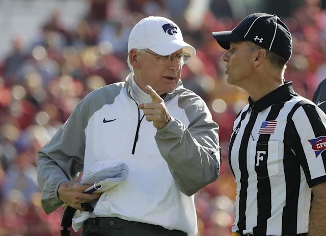 Bill Snyder's Kansas State team is in our way-too-early top 25. (Getty)
