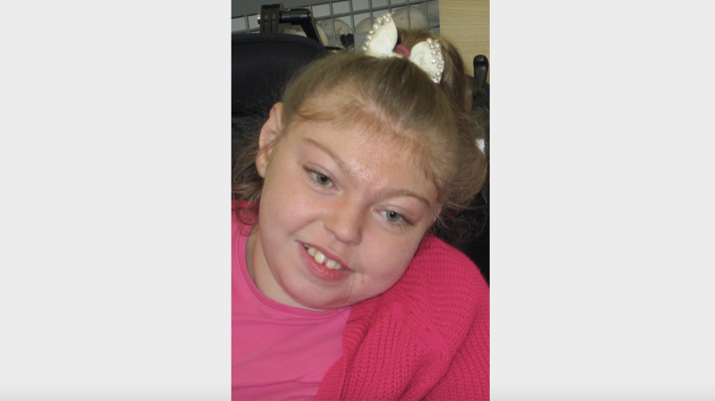 Maisie Newell, who allegedly died as a result of injuries she sustained as a baby which left her disabled. (PA Images)