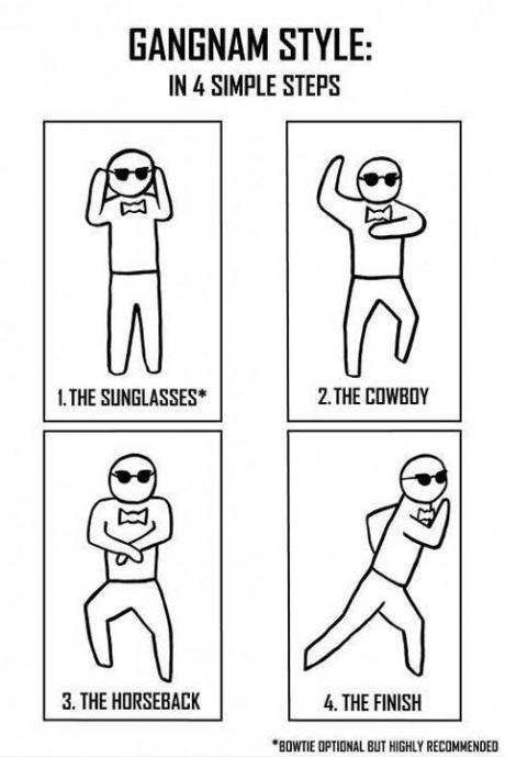 How To Dance Gangnam Style [ Via 9Gag.com ]