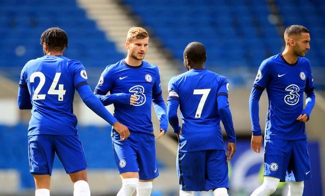 Chelsea have splashed the cash, including signing Timo Werner, second left, and Hakim Ziyech, right
